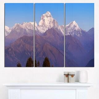 Snowy Dhaulagiri Peaks Himalayas - Landscape Print Wall Artwork