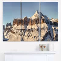 Overcast Sky over Italian Alps - Landscape Print Wall Artwork