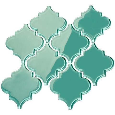 Teal' Arabesque Water Jet Tiles (7 Square Feet) (11 Sheets)