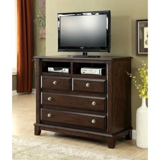 Furniture of America Hazelo Contemporary Brown Cherry 4-drawer Media Chest