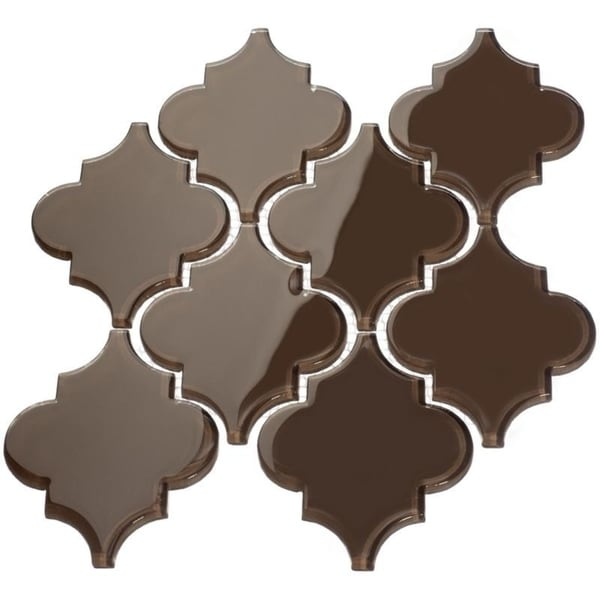 Classic Brown' Arabesque Water Jet Tiles (7 Square Feet) (11 Sheets)