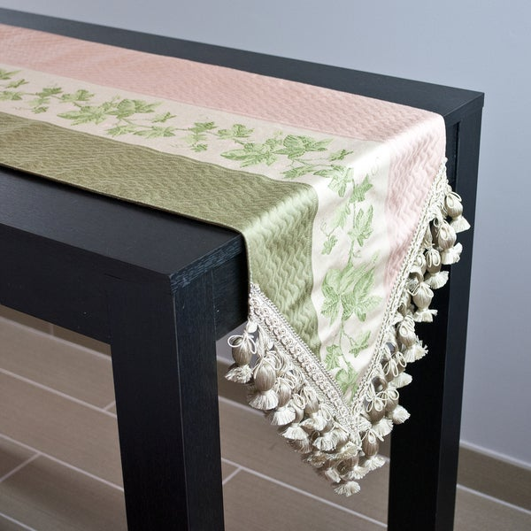 Sherry Kline Ivy Peach Table Runner