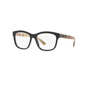 Burberry BE2227 3600 Black Plastic Square Eyeglasses w/ 52mm Lens