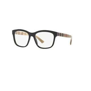 Burberry BE2227 3600 Black Plastic Square Eyeglasses w/ 54mm Lens