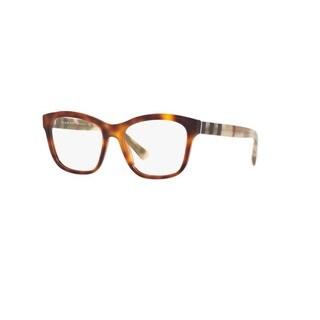 Burberry BE2227 3601 Light Havana Plastic Square Eyeglasses w/ 52mm Lens