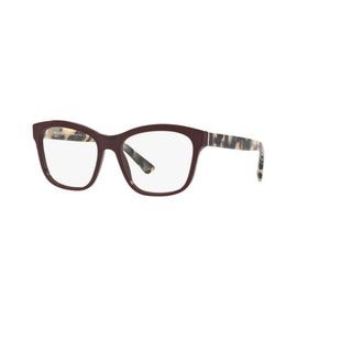 Burberry BE2227 3602 Bordeaux Plastic Square Eyeglasses w/ 54mm Lens