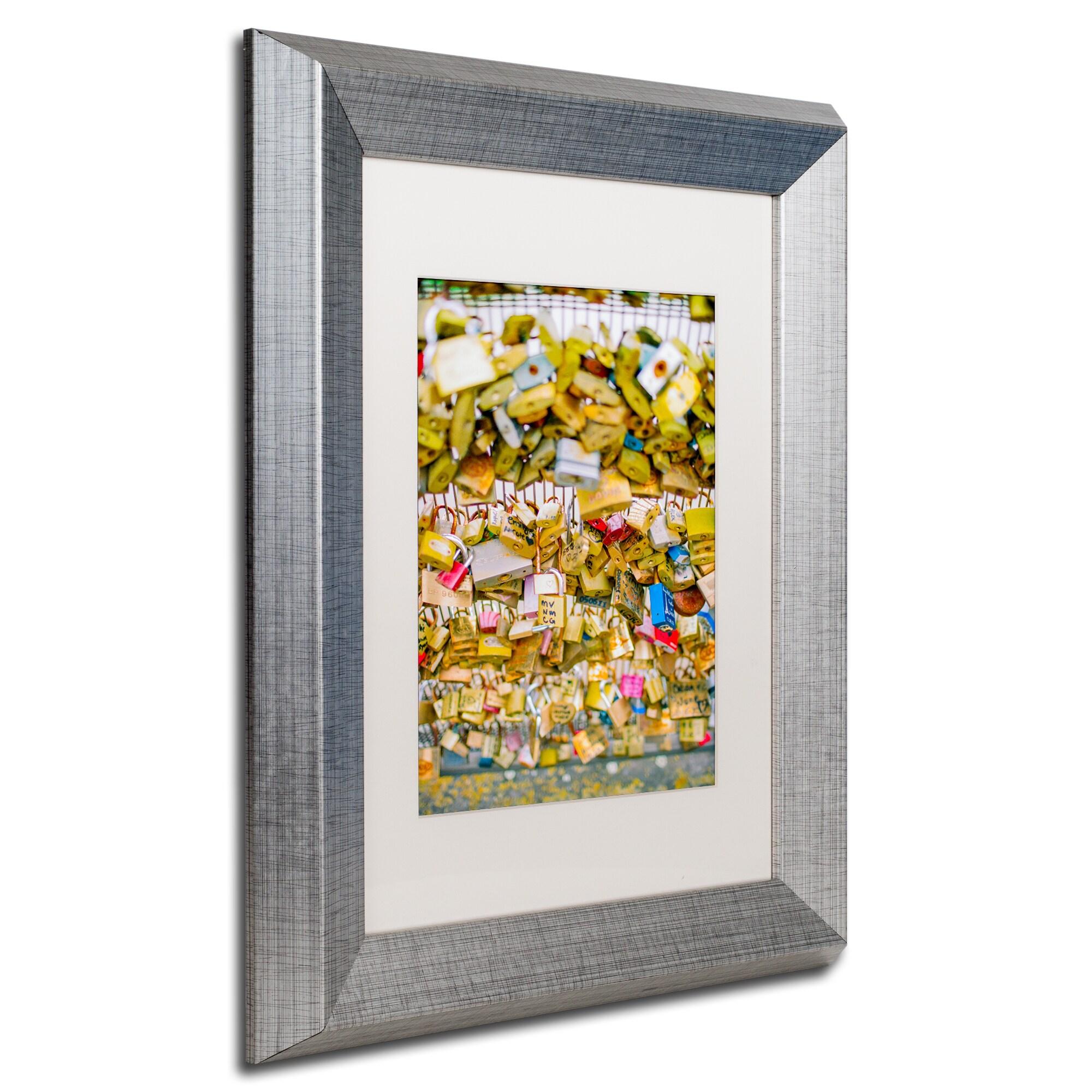 Ariane Moshayedi Paris Locks Love Matted Framed Art Overstock 12390812