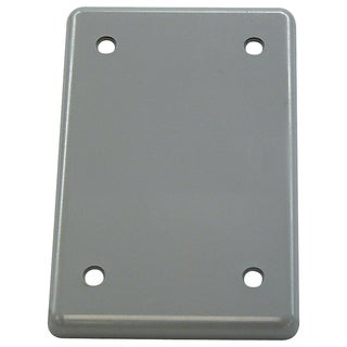 Cantex Rectangle PVC 1 gang Electrical Cover For Single Gang FS Type Box Gray