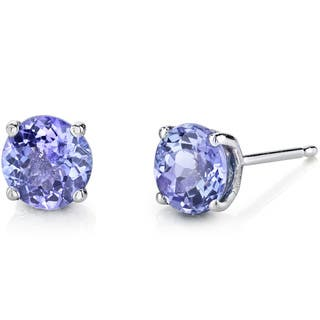 round co m shane in fashion stud earrings rose gold tanzanite p