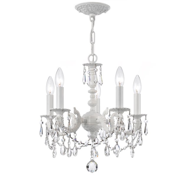 Crystorama Paris Market Collection 5-light Wet White Mini Chandelier