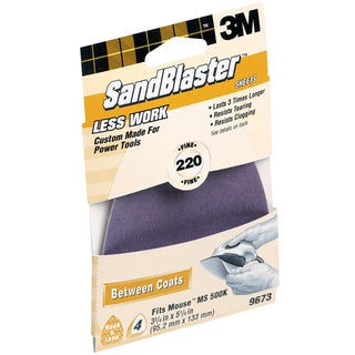 3M 9673 220 Grit SandBlaster Sandpaper For Mouse Sander