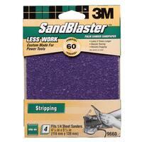 3M 9660SB-ES 60 Grit SandBlaster Palm Sander Clip-On Sandpaper
