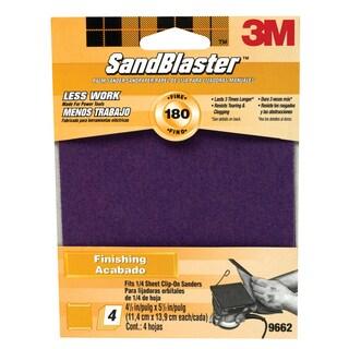 3M 9662SB-ES 180 Grit SandBlaster Palm Sander Clip-On Sandpaper
