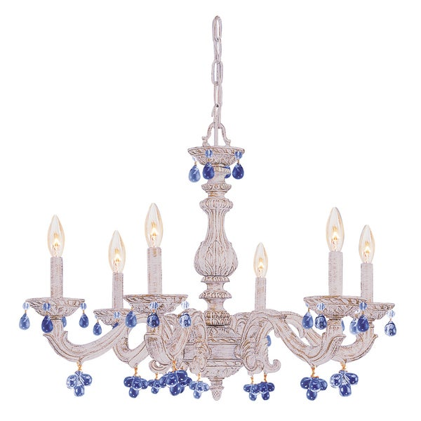 Crystorama Paris Market Collection 6-light Antique White Chandelier