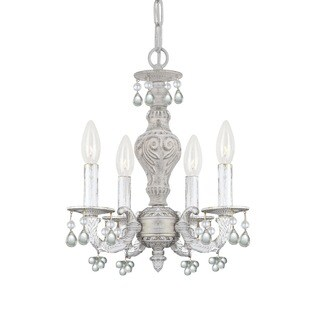 Crystorama Paris Market Collection 4-light Antique White Mini Chandelier