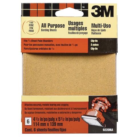 3M 9220ES Fine Palm Sander Sandpaper Sheets Clip-On