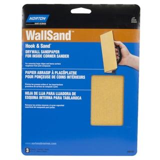 "Norton 68103 8"" X 7"" 100 Grit WallSand Corner Sandpaper 3-count"