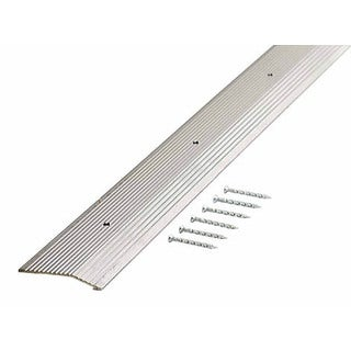 "M-D 78212 2"" X 36"" Silver Fluted Extra Wide Carpet Trim"