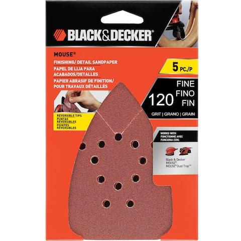 Black & Decker Power Tools BDAM120 120 Grit Sandpaper 5-count