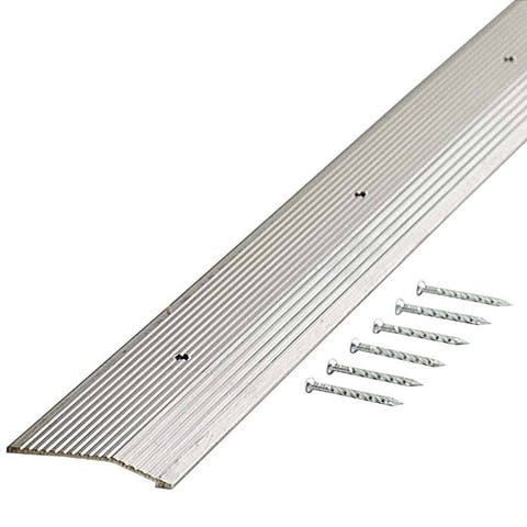"M-D 78006 7/8"" X 36"" Silver Fluted Carpet Trim"