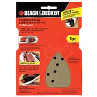 Black & Decker Power Tools 74-584H 180 Grit Mouse Finishing Sandpaper 5-count
