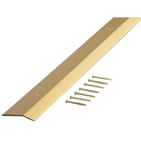 "M-D 72066 36"" Satin Brass Smooth Carpet Trim"