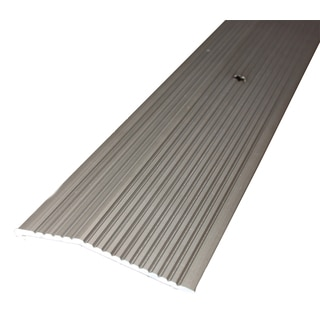 "M-D 43854 1-3/8"" X 36"" Pewter Wide Fluted Carpet Trim"