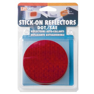 "Incom RE7073 3"" Amber Circle Stick On Reflector 2-count"