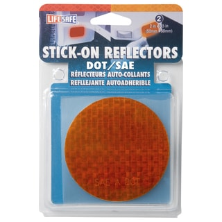 "Incom RE7074 3"" Red Circle Stick On Reflector 2-count"