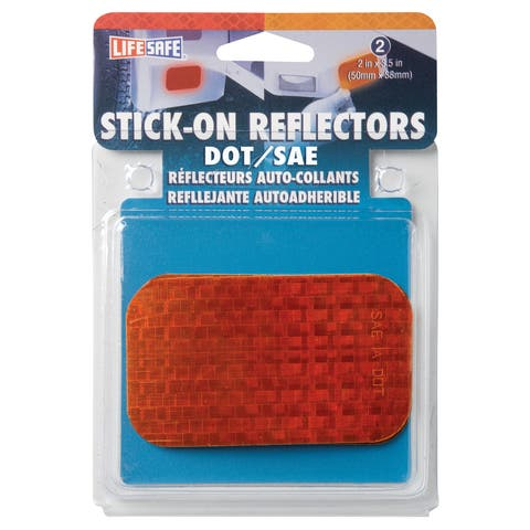 """Incom RE7070 2"""" X 3-1/2"""" Amber Stick On Reflector 2-count"""