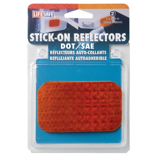 "Incom RE7070 2"" X 3-1/2"" Amber Stick On Reflector 2-count"
