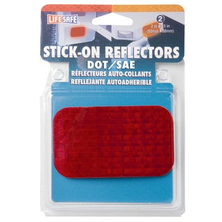 "Incom RE7071 2"" X 3-1/2"" Red Stick On Reflector 2-count"