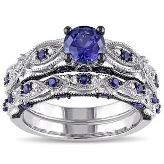 Blue Diamond Rings Shop The Best Brands Overstock Com