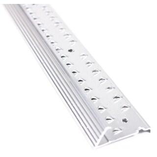 "M-D 78055 1-3/8"" X 36"" Silver Fluted Carpet Gripper Teeth"