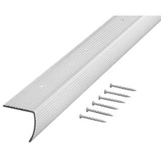 "M-D 78022 36"" Silver Fluted Stair Edging"