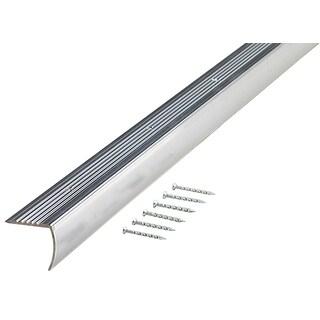 """M-D 66035 1-1/8"""" X 36"""" PB Aluminum Floor & Carpet Stair Edging"""