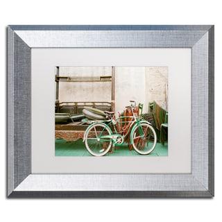Ariane Moshayedi 'Vintage Bike' Matted Framed Art