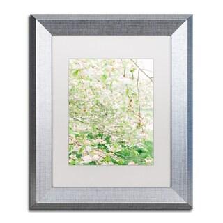 Ariane Moshayedi 'White Cherry Blossom Trees 4' Matted Framed Art