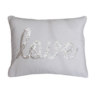 Thro by Marlo Lorenz 'Love' Sequined Feather-filled Decorative Throw Pillow