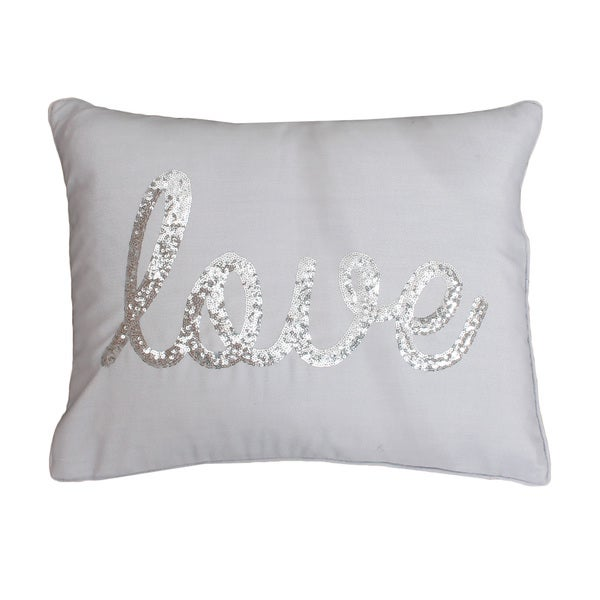Thro By Marlo Lorenz Love Sequined Feather Filled Throw