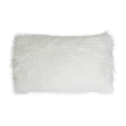Keller Faux Mongolian 14-inch x 22-inch Throw Pillow