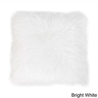 Keller Faux Mongolian 20-inch Throw Pillow