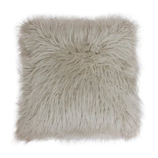 Keller Faux Mongolian 20-inch Throw Pillow