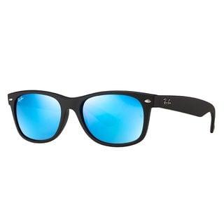 Ray-Ban New Wayfarer Black Frame Blue Lens Sunglasses