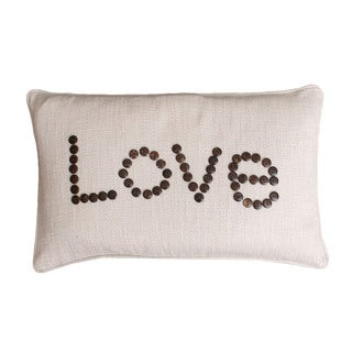 Thro by Marlo Lorenz Love Coconut Button Feather-filled Throw Piillow