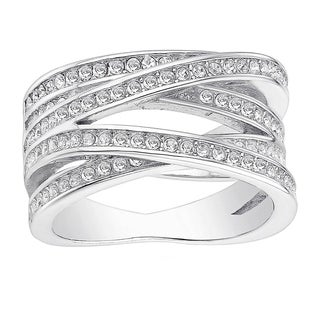 18k White Goldplated CZ Stone Orbit Ring