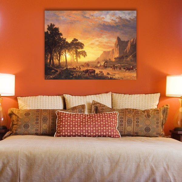 Portfolio Canvas Decor Albert Bierstadt U0026#x27;Oregon Trailu0026#x27; Canvas  Ready