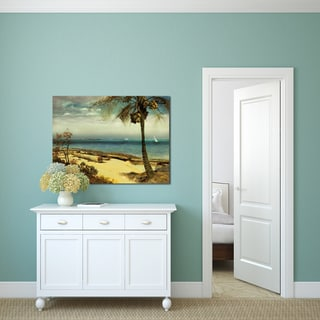 Portfolio Canvas Decor Albert Bierstadt 'Tropical Coast' Stretched, Wrapped, & Ready-to-hang Canvas Print Wall Art