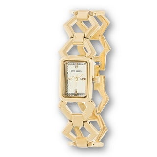 Steve Madden Gold Case and Links Alloy Strap Watch