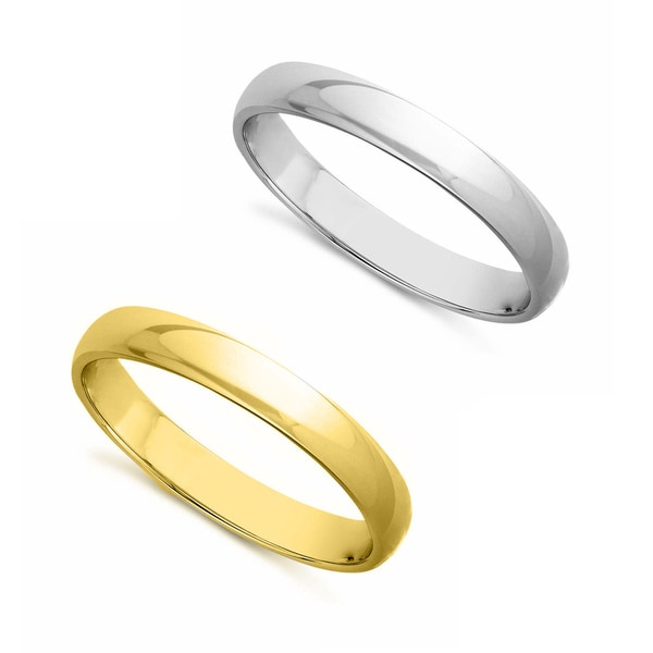 14k Yellow Gold High Polished 2mm Traditional Milgrain: 14k Yellow Or White Gold Standard Fit Men And Women's 3 Mm
